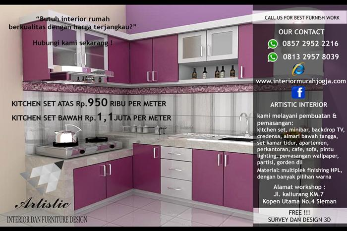 Jasa Pasang Kitchen Set Muntilan